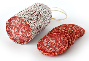 This image shows a salame.