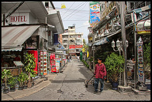 Looking towards Nana Neua from Sukhumvit Soi 3...