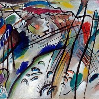 """Improvisation 28 (2nd version)"" by Vasily Kandinsky"