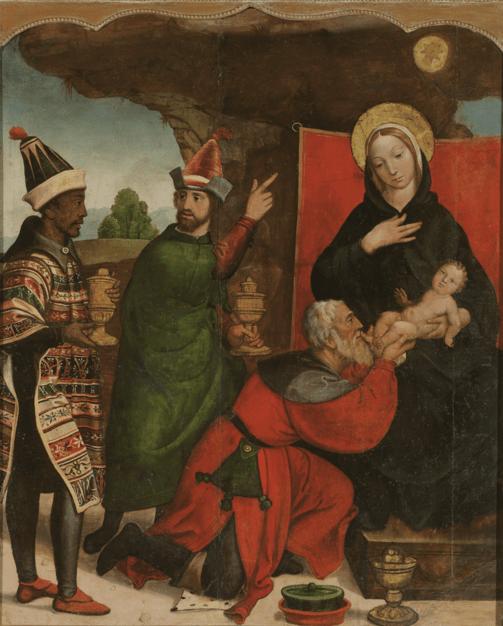 File:Adoración de los magos Francisco de Comontes, atribución..tif