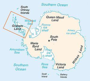 Map of Antarctica indicating location of Antar...