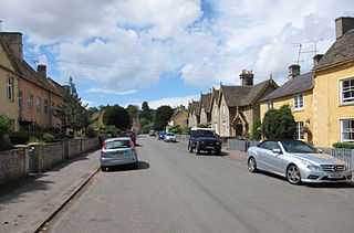 The main street, Badminton, South Gloucestershire