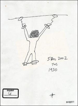 A sketch by Thomas V. Curtis, a former Reserve...