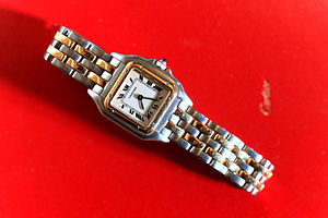 Cartier Panthere lady's two tone wrist watch