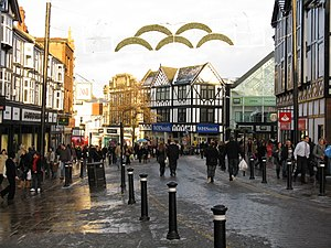 English: Christmas Shopping, Wigan