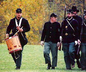 English: American Civil War re-enactors, 1997,...