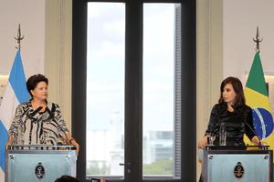 Dilma Rousseff e Cristina Kirchner em Buenos Aires