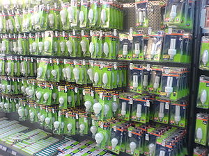 Energy saving light bulbs for sale.