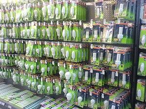 Energy saving light bulbs for sale.