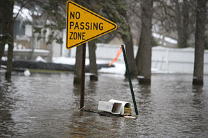 Moorhead, MN, March 30, 2009 -- Flood waters u...