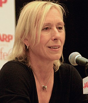 English: Martina Navratilova attending the AAR...