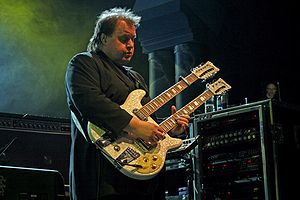 Steve Rothery onstage with Marillion at Marill...