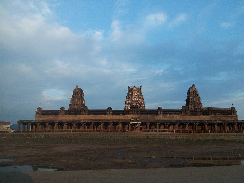 View of the Kodandarama Swamy Temple in Vontimitta