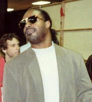 Stevie Wonder at a rehearsal for the Grammy Awards