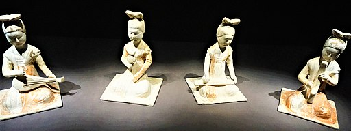 Tang Dynasty Painted Pottery Figures