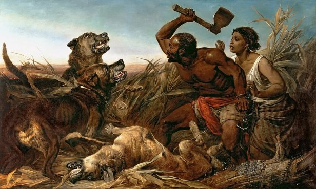 """The Hunted Slaves"" by Richard Ansdell"