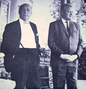 Picture of Ingmar Hedenius and Herbert Tingste...