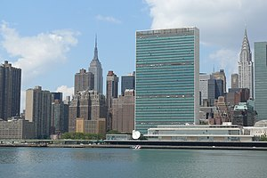 United Nations Chrysler and Empire State Building