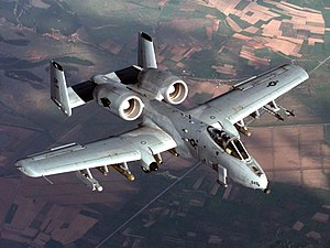 An A-10A during a NATO Operation Allied Force ...