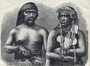English: Araucanian (Mapuche) husband and wife...