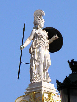 Athena column at Academy of Athens.