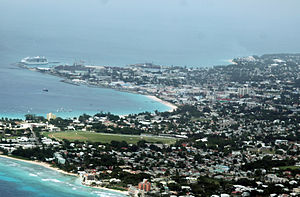 Suburbs of Bridgetown with Harbour in the back...
