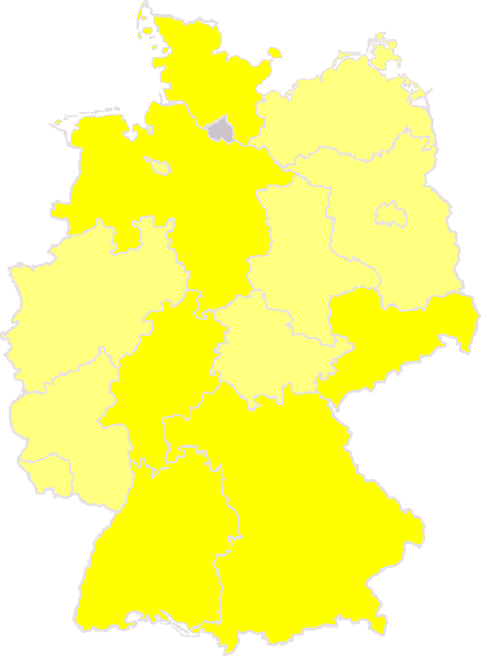 FDP in the States of Germany. Stand june 2007: The FDP is governing party. The FDP is parliamentary opposition. The FDP out of parliament. By Beroesz
