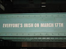 Everyone's Irish on 17 March