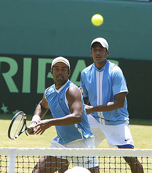 Leander Paes (the lauda) and his former double...