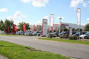 English: Lincoln Honda One of several car deal...