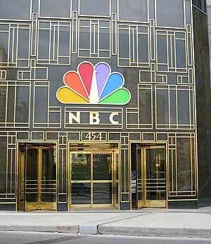 The front entrance of the NBC Tower at 454 N. ...