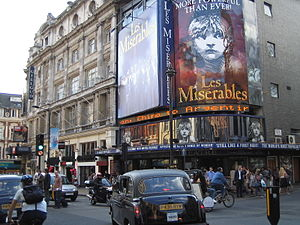 English: Les Miserables at Queen's Theatre, as...