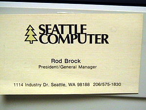 English: Image of business card of Rod Brock o...