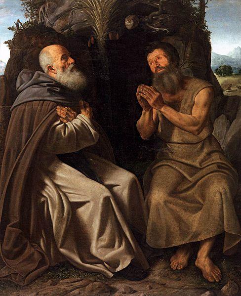 Giovanni Gerolamo Savoldo, Sant'Antonio abate e san Paolo eremita