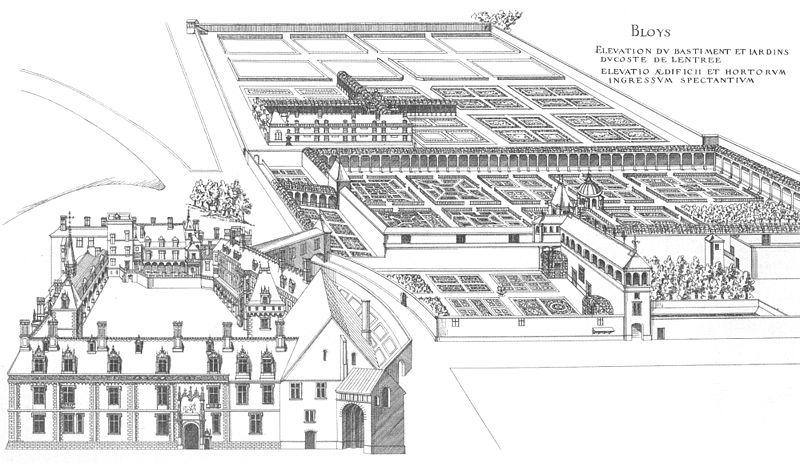SchlossBloisDuCerceauVogelperspektive