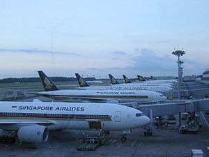 Singapore Airlines operations at Singapore Changi.