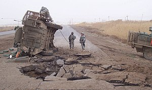 English: In this file photo, a Stryker lies on...