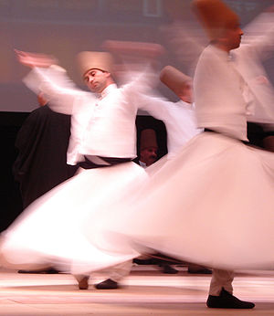 Whirling dervishes or Darveshes, Rumi Fest 2007.