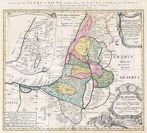 1750 Homann Heirs Map of Israel - Palestine - ...