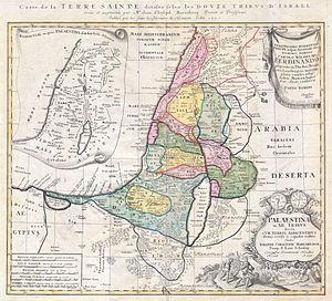 1750 Homann Heirs Map of Israel - Palestine - ...