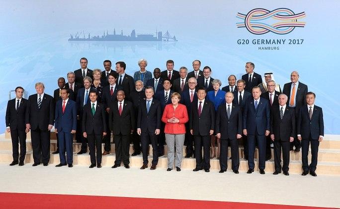 2017 G20 Hamburg summit leaders group photo