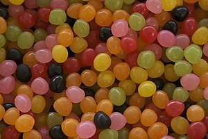 Français : bonbons colorés English: colored sweets