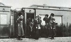 Alexandra Fyodorovna, tsarevitch Alexey and Ni...