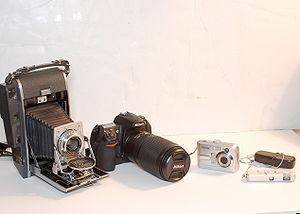 English: Cameras from Large to Small, Film to ...