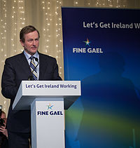 Kenny makes a speech to Fine Gael party members on the day of the election results.