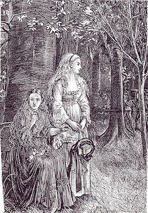 Illustration by Michael Fitzgerald for Le Fanu...
