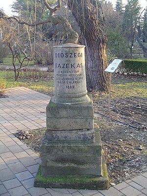 English: Memorial of Diószegi Sámuel and Fazek...