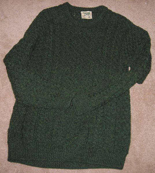 File:Green Aran Sweater.JPG