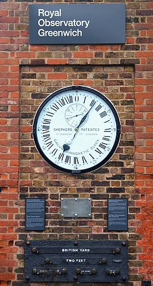 Shepherd gate clock at the Royal Observatory, ...