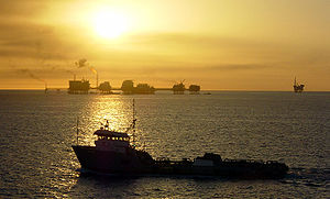 Gulf of Mexico with ship